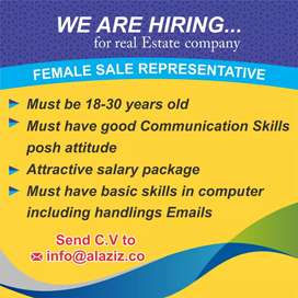 Urgently Need a female sales representative for a high rise building.