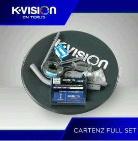 Antena Parabola Kvision Kuband Cartenz K2000 Siaran Hemat Terlengkap