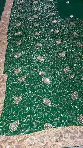 Fashionable partywear saree..with great designed work