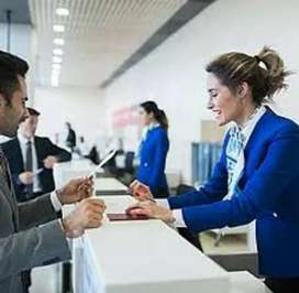 Ticketing executive job in Bhopal Airport.