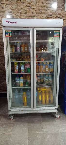 Caravell duble door fridge