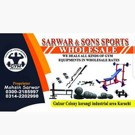 Gym equipments (wholesale) Plates , rods and benches