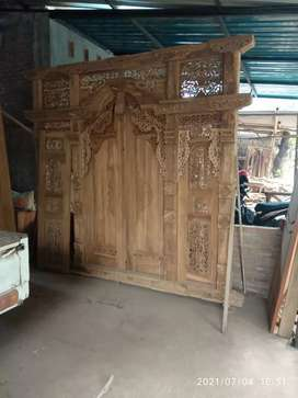 Pintu kusen gebyok kayu jati kebila