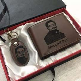Customize Leather photo wallet and keychain
