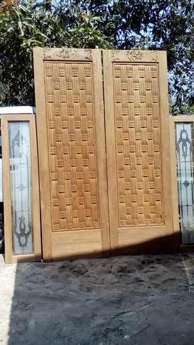 Pintu kayu jati &ulin