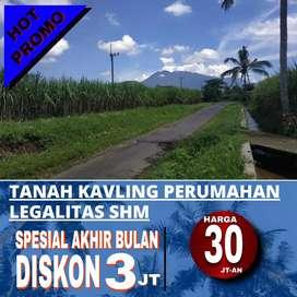 Tanah kavling SHM dekat PG Kebonagung hanya 4,7km