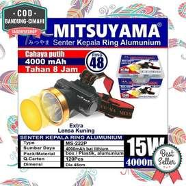 Headlamp Head Lamp Senter Kepala Camping LED 15 Watt Charge Cas MS222