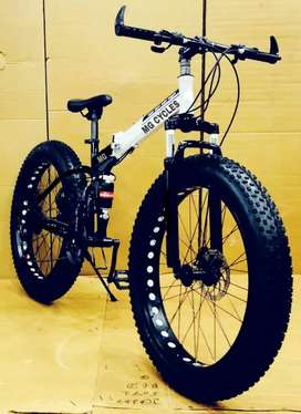 NEW FAT TYRE FOLDING 21 GEARS  CYCLE AVAILABLE