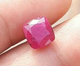 4.35 carat top quality natural ruby cut stone very pretty color.
