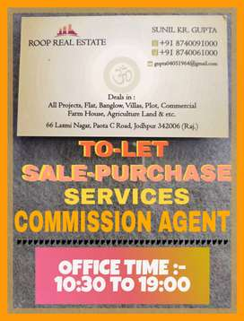 (Commission agent) One room, kitchen & let-bath for rent