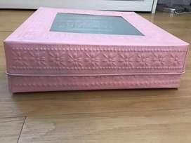 35x35 Kotak Box Seserahan Hantaran Hampers Parcel Pink Logam