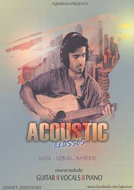 learn music instruments plus vocal classes available in karachi