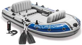 Intex Excursion 4 Inflatable River/Lake Boat 10'4 X 5'5 X1'5 Inches
