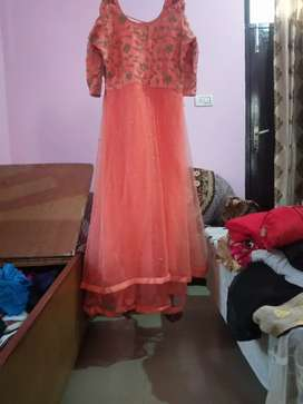 Peach colored gown