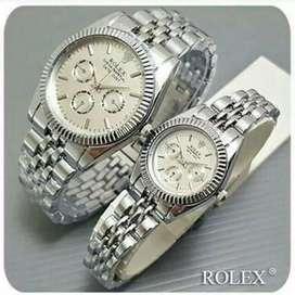 Couple Rolex sepasang Rantai - Silver