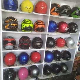 Wanted sales girl in helmet showroom