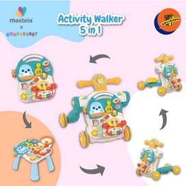 MASTELA ACTIVITY WALKER 5in1 - Baby Activity/Push Walker
