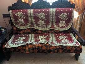 Sofa set with diwaan coat and table