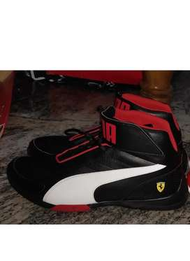 Puma ferrari black and red shoes