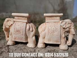 Vintage elephants for garden stool and table (home delivery available)