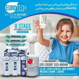 New 8 Stage Ro Plant Taiwan Euro Tech Alkaline  Ro Water filter 100GPD