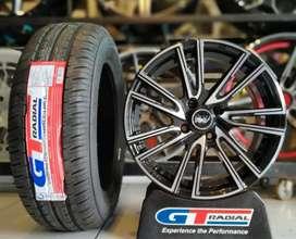 Paket velg+ban mobil racing murah ring 15 GT Champiro eco