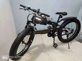Fat tyre foldable cycles with shimano 21 gears