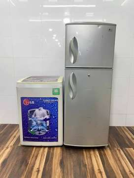 Lg turbo drum technology top load fully automatic washing refrigerator
