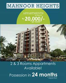 Flats for sale on booking/installment (new construction)