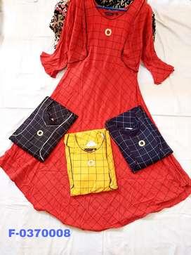 Maternity kurti/Feeding kurti/Overcoat kurti with checked pattern