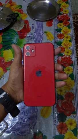Apple i phone 11 , 128gb , red colour