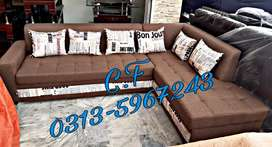 6seater L shape designs sofa.