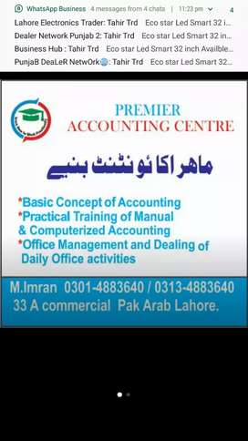 Expert Accountant available for Part time and full time services