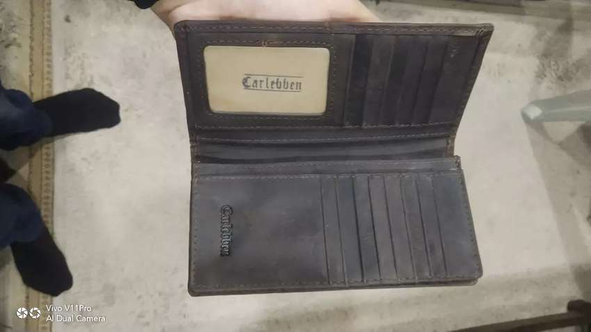 Carlebben leather hand stitched long wallet purse 0