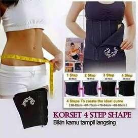 korset Pelangsing slimming belt  4 step body slim pengecil perut