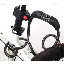 Gembok Kunci Pengaman Sepeda Motor Helm Kable Kode Angka 4 Digit #NEW