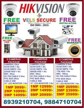 """WHOLESALE   OFFER  2MP HIKVISION HD CCTV CAMERA WITH FREE FIXING, 15"""""""