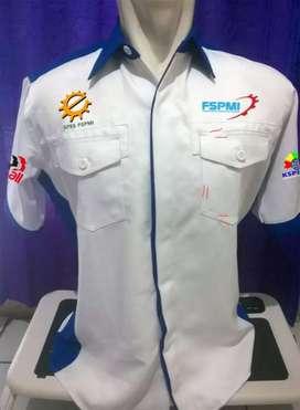 Baju Kemeja Seragam Kerja Murah Berkualitas Bisa Bordir dan Sablon