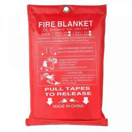 Kain Pemadam Api Fiberglass Fire Blanket Flame Shelter Cover Emergency