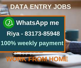 Part time jobs. Work from home. Earn daily Rs.1000/- to Rs.1300/-