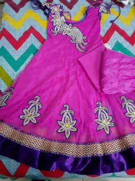Beautiful heavy dress of girl age (10-12)
