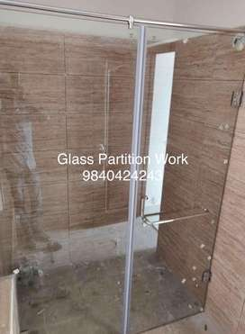 Toughened Glass Partition And Door Fabrication works