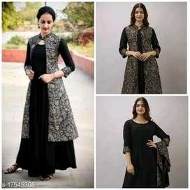 Designer kurta with jacket dress