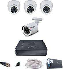 4CH CCTV Camera setup installation with 1TB Harddisk 0