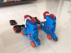 Skating Shoes for kid (Decathlon) with Accesorries