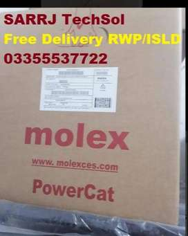 Network CAT6 UTP LAN Cable Roll Molex For Networking