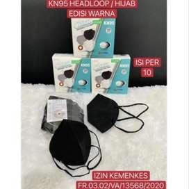 Gratis Antar - Masker KN95 / KN95 Hijab Headloop 5 ply/Lapis 10 pcs