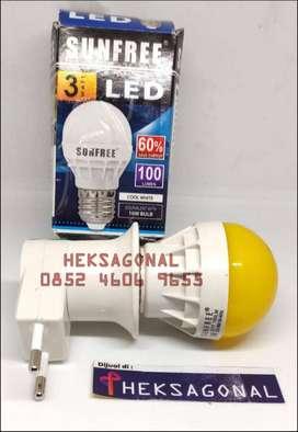 Lampu Tidur LED Plus Fiting Colok Switch BPN