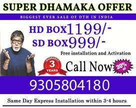 TATA Sky DTH new connection Available in all India free installation