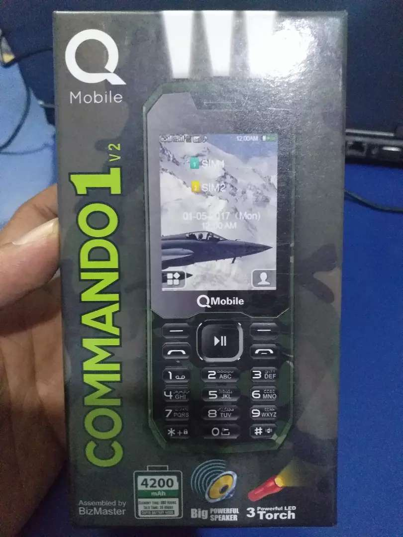 Qmobile Commando DualSIM PTA Approved Box Pack Phon With Free Delivery 0